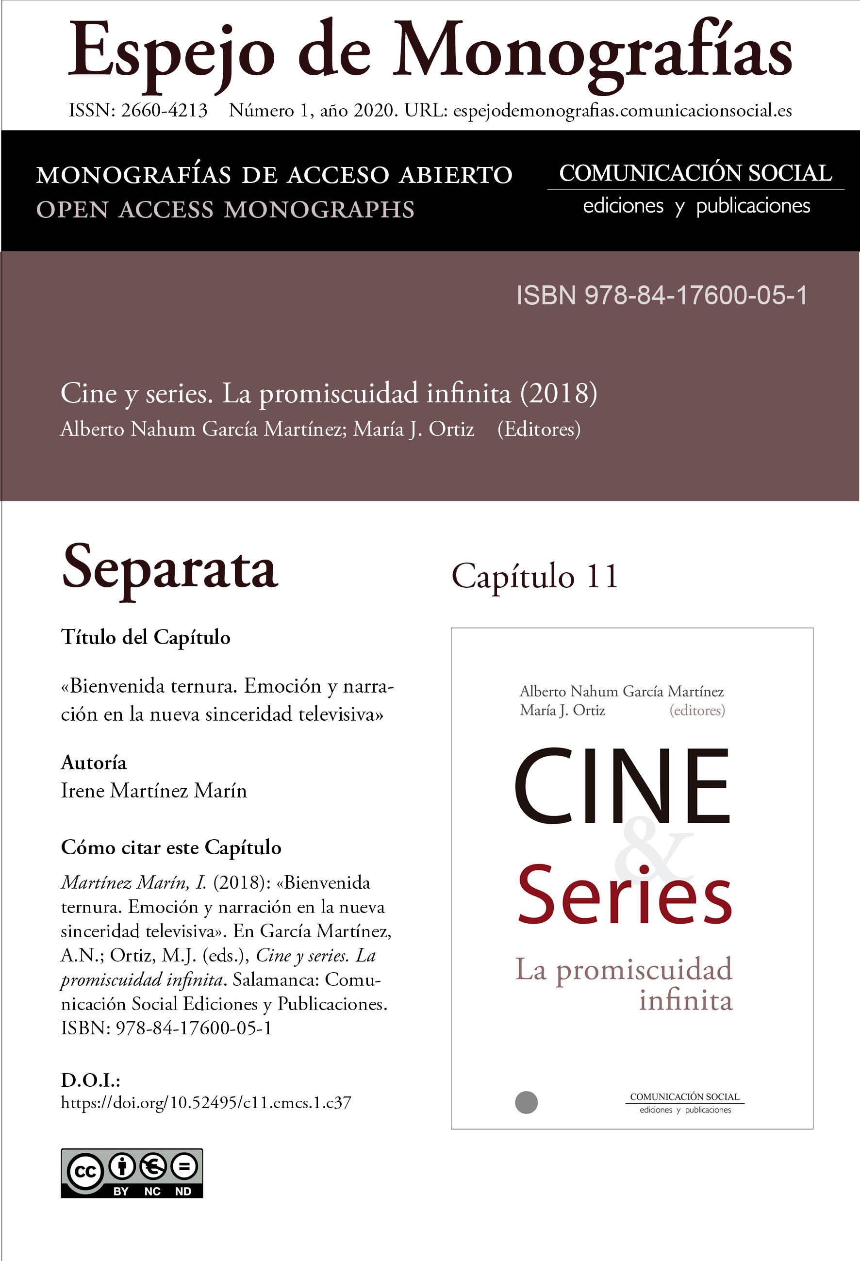 Separata del Capítulo 11 correspondiente a la monografía Cine y series: la promiscuidad infinita